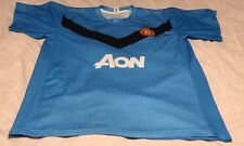 Manchester United FC 2009-10 Soccer Football #8 Jersey - Light Blue
