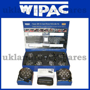 LAND ROVER DEFENDER LED WIPAC DELUXE SMOKE UPGRADE LAMP LIGHT KIT - 11 LAMPS