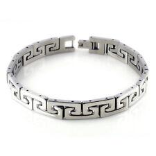 Männer Silber Armband aus Edelstahl einfach schlicht Schmuck  von guter Qualität