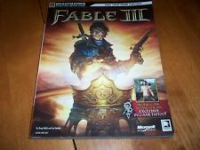 FABLE III BradyGames Microsoft Signature Series Game Player's Guide Book