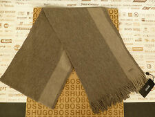 Authentic HUGO BOSS Virgin Wool Scarf FADOR Beige Luxury Scarves BNWT RRP£65
