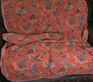 Vtg Francisco Jover Machine Embroidered Jacobean Bedspread, 90s .