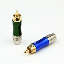 A Pair of RCA Phono Male Plug Solder Soldering Connector Adapter Terminal AV