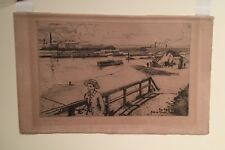 Eugene Bejot -  An original etching, signed in pencil and from 1903.