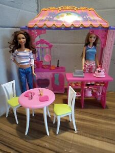 Barbie Bakery Shop Playset With Two Dressed Dolls, Furniture And Accessories