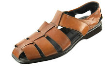 TO BOOT NEW YORK 40 EU 7 US Roman Fisherman Brown Strappy Leather Sandals ITALY