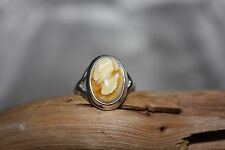 UNIQUE BUTTERSCOTCH BALTIC AMBER RING 925 STERLING SILVER - SIZE 7.75