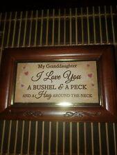 New ListingBradford Exchange Granddaughter, I Love You A Bushel And A Peck Music Box