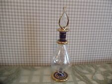 "Beautiful 5 1/4"" T Mouth Blown Perfume Bottle with Glass Stopper Egyptian Mint"