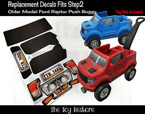 Toy Restore Replacement Stickers for Older Model Step2 Ford Raptor F150 Push Car