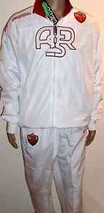 Original AS Rom Trainingsanzug weiss KAPPA Erwachsene + NEUWARE + Presuit Roma