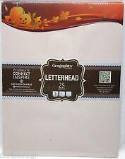 Fall LETTERHEAD Stationary 25 Sheets Paper Pumpkin Leaves Halloween Thanksgiving