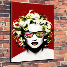 """Madonna Abstract Pop Art Printed Canvas Picture A1.30""""x20""""30mm Deep Pop Music."""