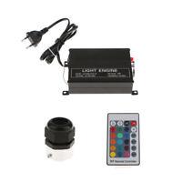 Sorgente LED RGB da 16W per fibra ottica con spina EU remota colorata