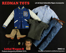 Redman TOYS 1/6 lethal weapon mel Columcille gerard gibson costume suits f body