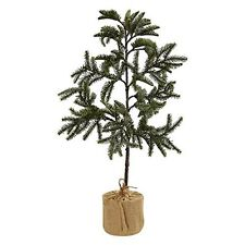 Nearly Natural 5467 Iced Pine Tree with Burlap Base- 3' NEW