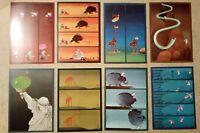 8 carte postale MORDILLO humour funny postcards 1985