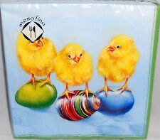 """Easter Luncheon Napkins 20Ct  3-Ply  Chicks with Easter Eggs  13"""" x 13"""""""
