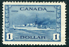 Canada #262 F-Vf Light Hinged Issue - Naval Destroyer Allied Nations - S6204