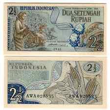 INDONESIEN INDONESIA 2 1/2  RUPIAH 1961 UNC P 79