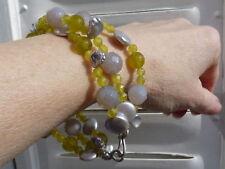 pulsera 925,ágatas,serpentinas y perlas keishi