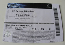 OLD TICKET CL Bayern Munchen Germany Valencia CF Spain