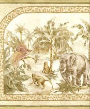 Camel,Elephant,Monkey,Pal m light Wallpaper bordeR Wall