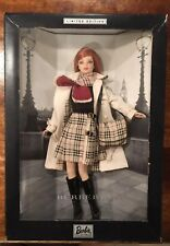 Limited Edition Burberry Barbie Doll Collectible Never Opened Still Sealed