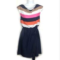Eliza J Striped Bodice Dress Women's Size 8 Elastic Waist