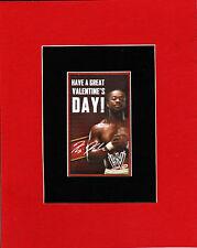 WWE - KOFI KINGSTON Valentine's Day PRINT PROFESSIONALLY MATTED