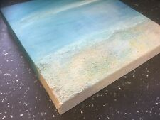 Seascape 2: Original Painting by LEILA GODDEN Box Canvas Acrylic/Mixed Media