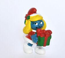 """20208-""""Weihnachts Schlumpfinchen""""-""""Christmas Gift Smurfette""""-Schleich-NEU -NEW!!"""