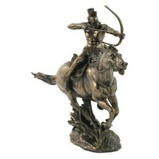 American Indian Horseback Mohican Warrior Cold Cast Bronze,Highly Detailed.