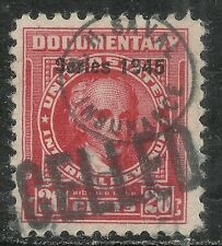 U.S. Revenue Documentary stamp scott r418 - 20 cent issue of 1945  #2