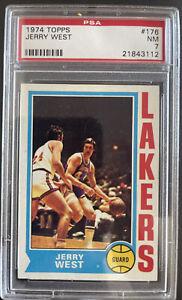 1974 Topps, #176, HOF Jerry West, Los Angeles Lakers, PSA 7 NM