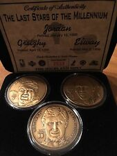 Wayne Gretzky John Elway Michael Jordan set of three limited edition coins