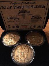 Wayne Gretzky John Elway Michael Jordan set of three limited edition coins