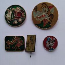 Vintage Soviet pin badge Wolf Nu Pogodi Wolf lot of