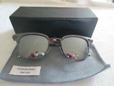 Thom Browne gunmetal frame sunglasses. TB-102-B-T-BLK-49. With case.