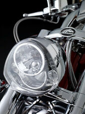 American Iron Horse DOT Approved Chrome Motorcycle Headlamp w/ LED DRLs & Cable
