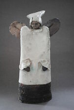 Guardian Angel, Ceramic Figurine, Unique, Handmade Ceramic Angel,