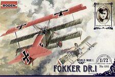 RODEN 010 1/72 Fokker Dr.I World War I