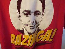 Big Bang Theory Sheldon Bazinga! Red Graphic Tee Short Sleeve Size XLarge