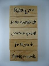 Recollections Rubber Stamp Thank You Set  (5 Stamps)184585