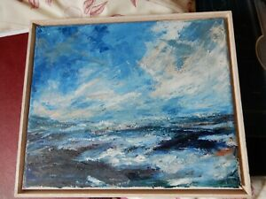 Oil on Board, Sea Scape, Not Signed