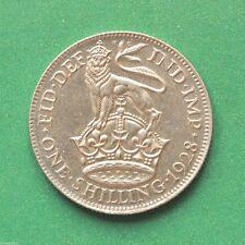 1928 George V Silver Shilling Extra fine EF SNo40197