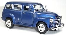 1950 Chevrolet Suburban Carryall Sammlermodell 12,2 cm blau metallic KINSMART