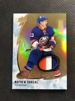 2019-20 UPPER DECK ICE MATHEW BARZAL GAME-USED PATCH GOLD #ed 8/15