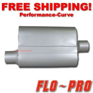 """2 Chamber Performance Exhaust Street Muffler FLO-PRO Super V - 2.5"""" O/C - V42541"""