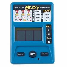 Electronic Handheld Slot Machine Game Triple 7's 3 inches x 4 inches